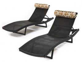 RST Brands Outdoor Woven Wave Loungers ~ 2 Pack, $299